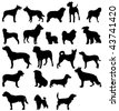 dogs silhouettes. - stock vector