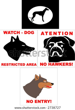 dogs (vector) - stock vector