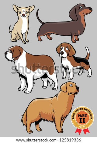 dogs vector collection part 2 - stock vector
