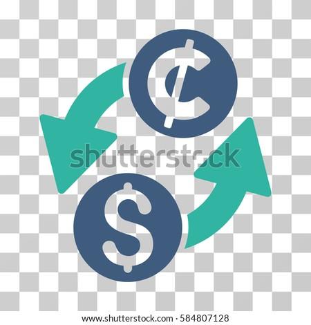 Dollar Cent Exchange Icon Vector Illustration Stock Vector 584807128