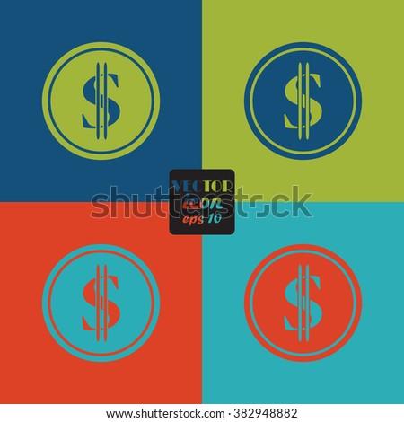 Dollar Cent Icon Stock Vector 382948882 Shutterstock