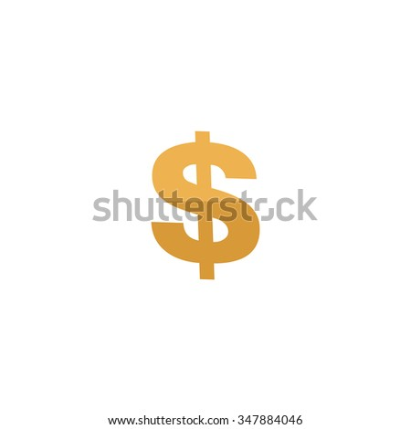 Dollar Color vector icon on white background