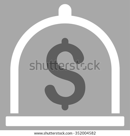 Dollar Deposit vector icon. Style is bicolor flat symbol, dark gray and white colors, rounded angles, silver background. - stock vector