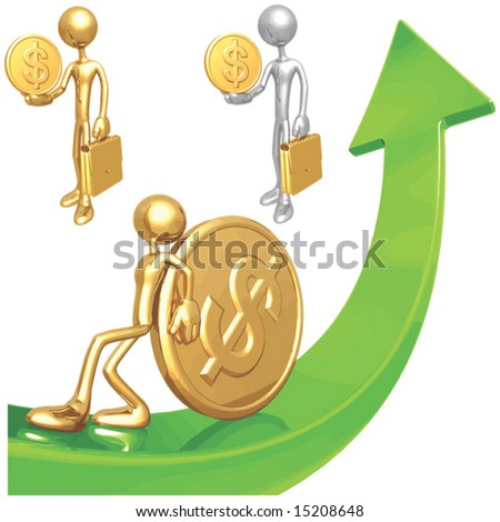 Dollar Market Arrow - stock vector