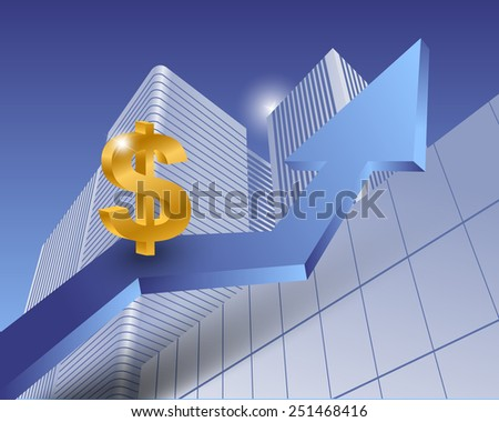 Dollar sign as a successful currency - stock vector