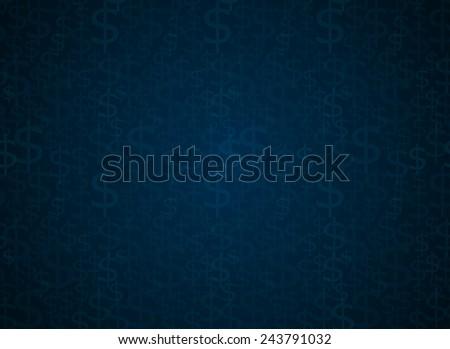 Dollar sign seamless vector background - stock vector
