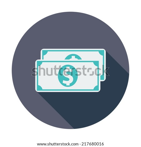 Dollar. Single flat color icon. Vector illustration. - stock vector