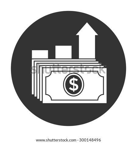 Dollar stack icon. Money growth concept. - stock vector