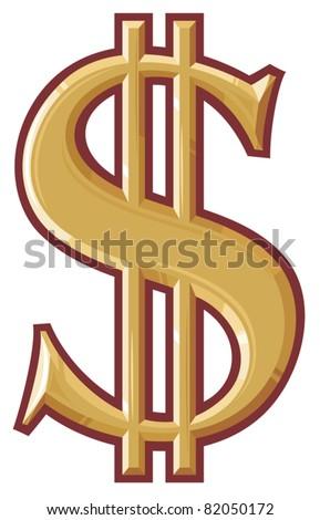 dollar symbol - stock vector