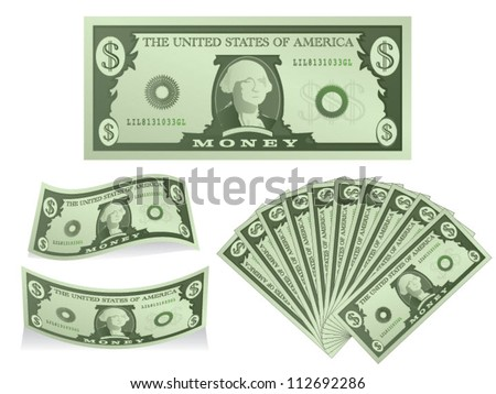 Dollars - stock vector