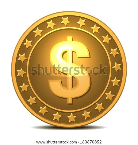 Dollars money isolated on white. Vector EPS10 - stock vector