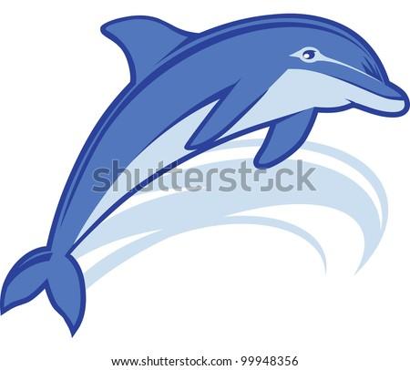 Dolphin Mascot - stock vector