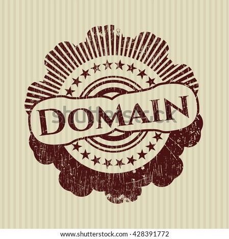 Domain with rubber seal texture - stock vector