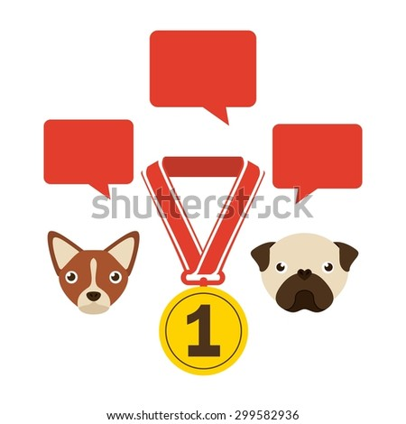 domestic animals design, vector illustration eps10 graphic  - stock vector