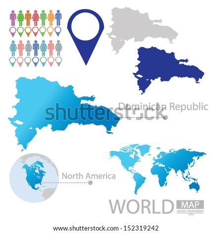 Dominican republic north america world map stock photo photo dominican republic north america world map vector illustration publicscrutiny Choice Image