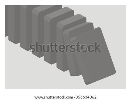 domino effect simple illustration - stock vector