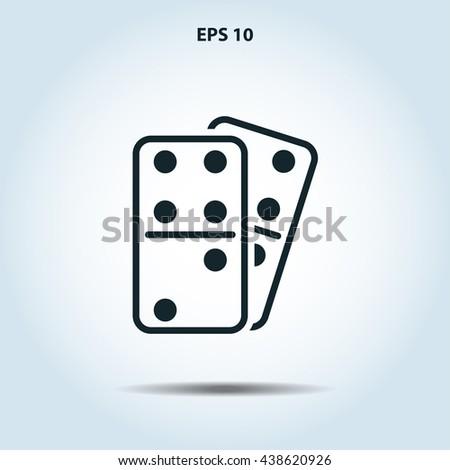 domino icon - stock vector