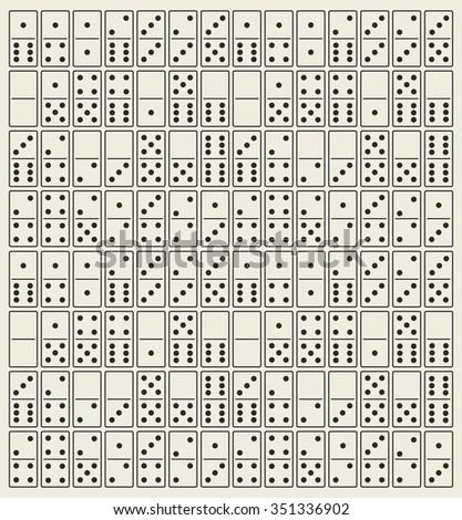 Domino vector - stock vector