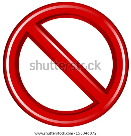 Don't Sign Stylized - stock vector