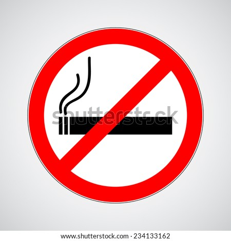 don't smoke sign