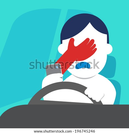 Don't Text & Driving - stock vector