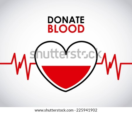 donate blood graphic design , vector illustration - stock vector