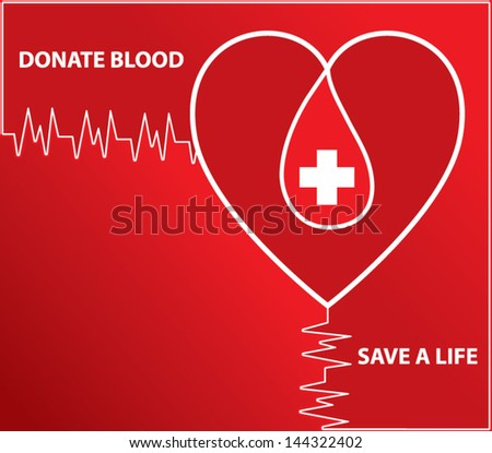 Donate blood.Vector illustration - stock vector