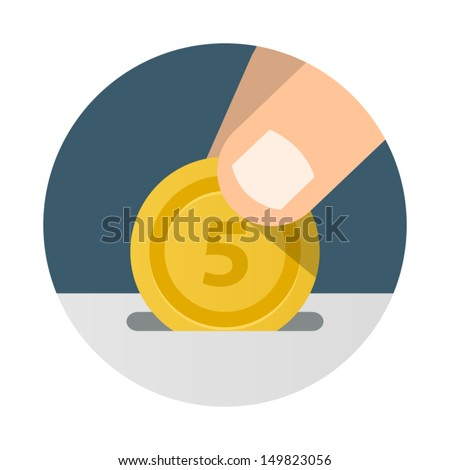 Donation, Giving and Receiving Money.  - stock vector