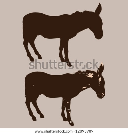 Donkey - stock vector