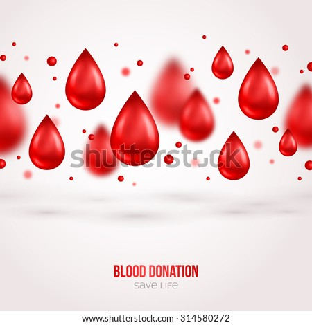 Donor Poster or Flyer. Blood Donation Lifesaving and Hospital Assistance. Vector illustration. World Blood Donor Day Banner. Creative Blood Drops. Medical Design Elements. - stock vector