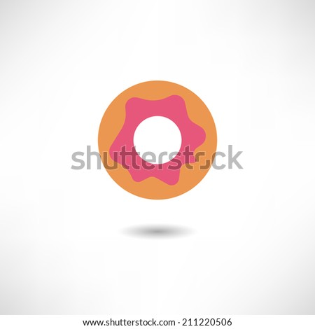 Donut icon - stock vector