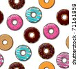 Donut seamless texture. - stock photo