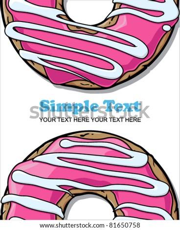 Donut vector illustration. - stock vector