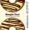 Donut vector illustration. Place for your text. - stock vector