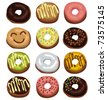 Donuts - stock vector