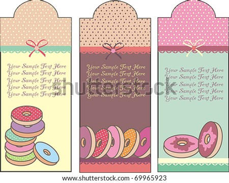 donuts card - stock vector