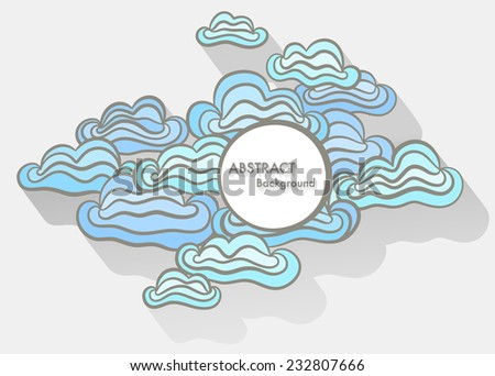 Doodle abstract background with space for Your text - stock vector