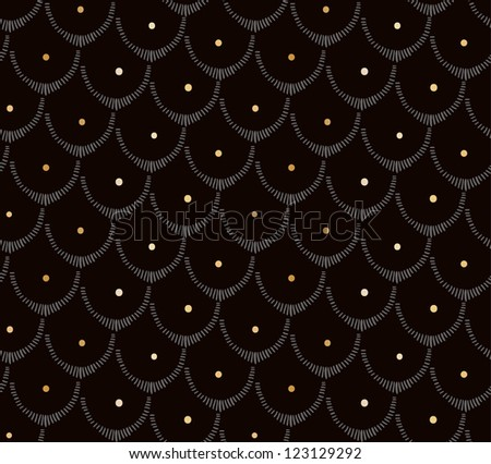 Doodle abstract scale seamless pattern. - stock vector