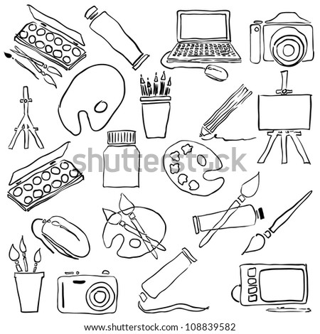 doodle art collection - stock vector