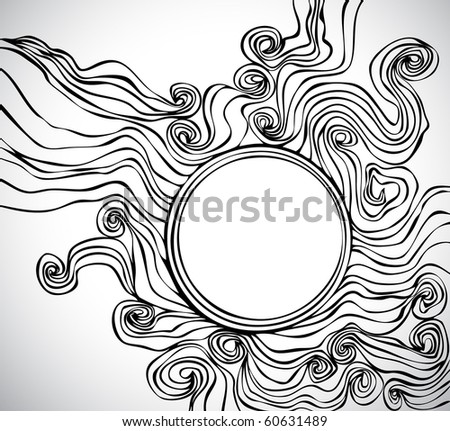 doodle background with space for Your text - stock vector