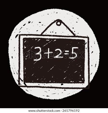 Doodle Blackboard - stock vector