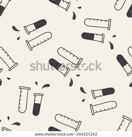 doodle chemistry seamless pattern background - stock vector
