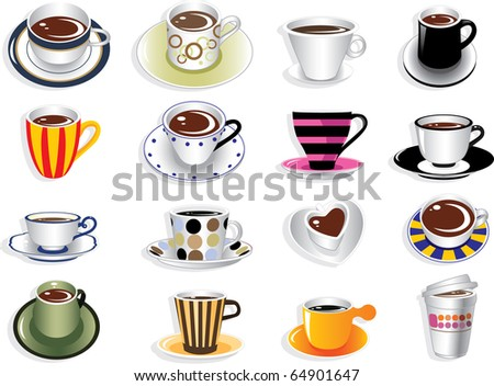 doodle coffee - stock vector