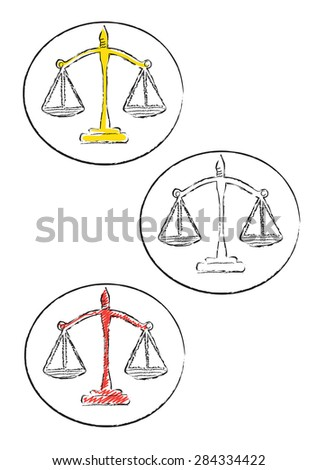 Doodle decorative scale icons - stock vector