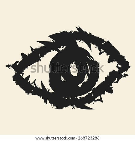 doodle drawing eye - stock vector