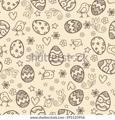 Doodle easter pattern. Happy easter pattern. Seamless pattern. Doodle easter pattern. Happy easter pattern. Doodle easter pattern. Happy easter pattern. Seamless pattern. Doodle easter pattern. - stock vector