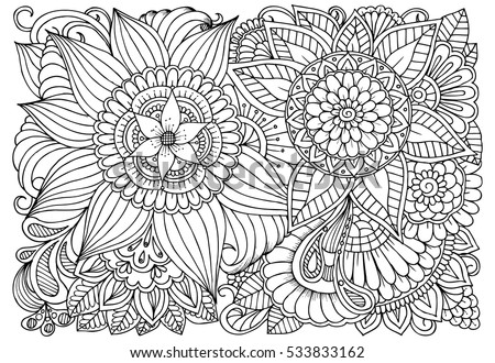 Adult Coloring Pages Stock Images, Royalty-Free Images & Vectors ...