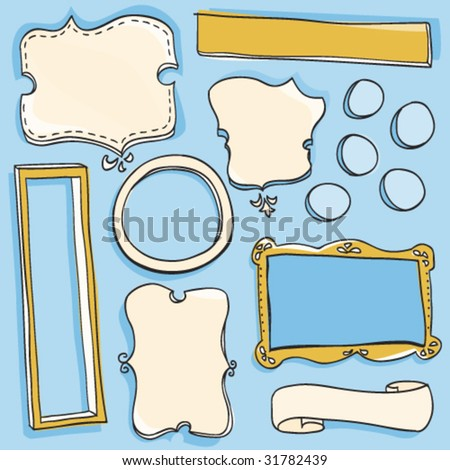 Doodle Frames - stock vector