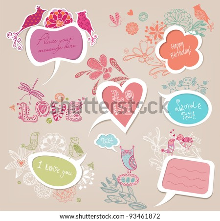 Doodle frames - stock vector