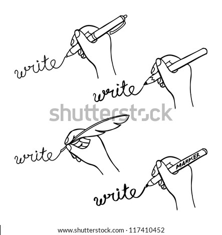 doodle hand writing - stock vector